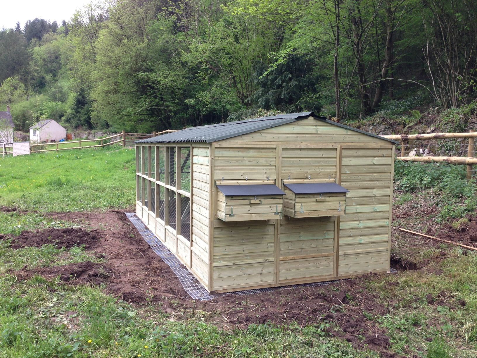 Walk In Chicken House we built this chicken coop for dean farm trust to house their ex
