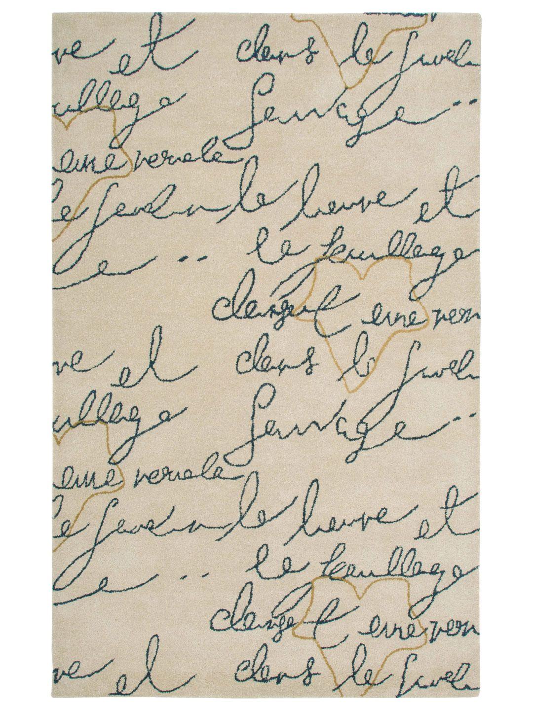 Destiny Hand-Tufted Rug - Gilt Home. I like the idea of letters on my floor