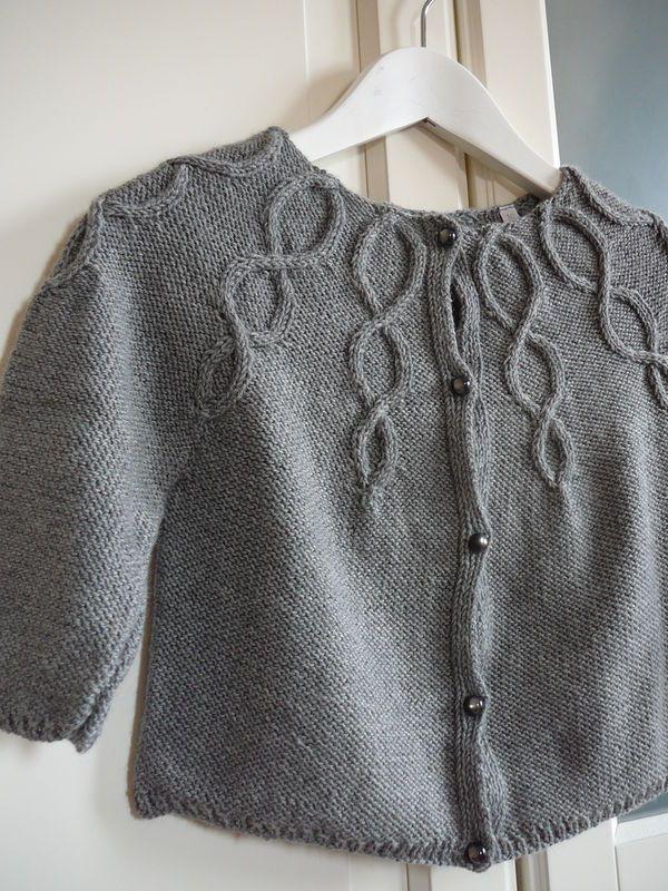 d7ae3837ed619 modèle tricot gilet bébé 24 mois