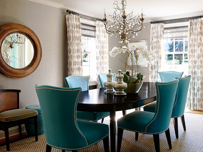 Marvelous Especially The Teal Chairs. Angela Camarda For Lillian August