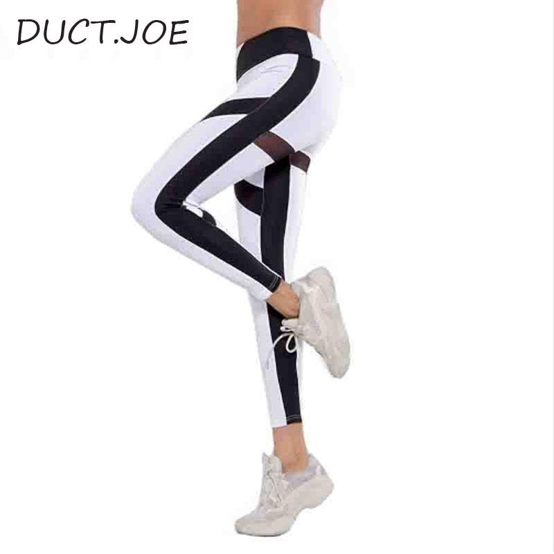4a269c51dca91d #New #Leggings For #Women Fashion Mesh Patchwork Casual Leggins High #Waist  #Fitness #Clothing #Leggings White Shaping #Leggings