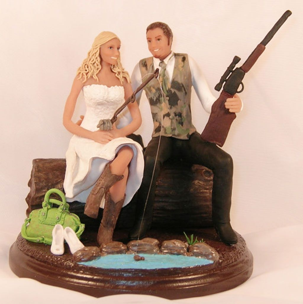 hunting wedding cake toppers cheap weddings pinterest hunting wedding wedding and cake. Black Bedroom Furniture Sets. Home Design Ideas