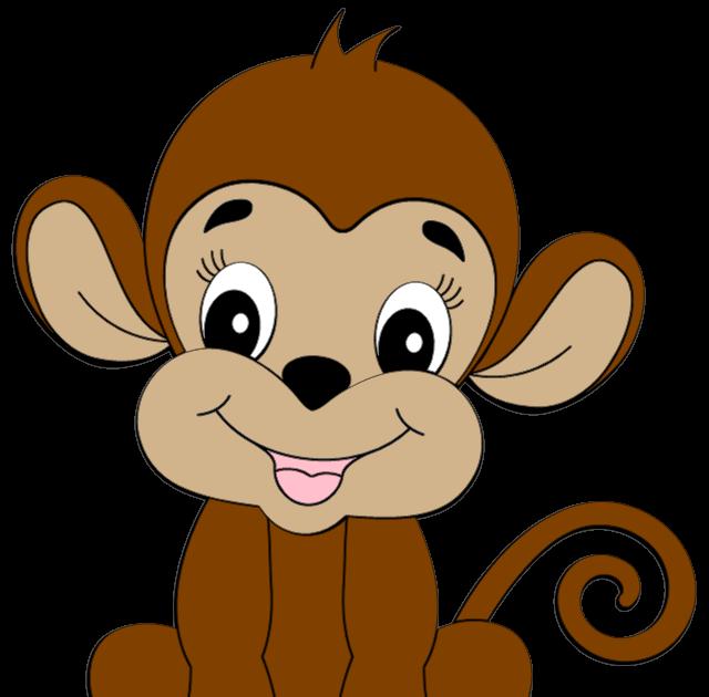 cute monkey clipart credited