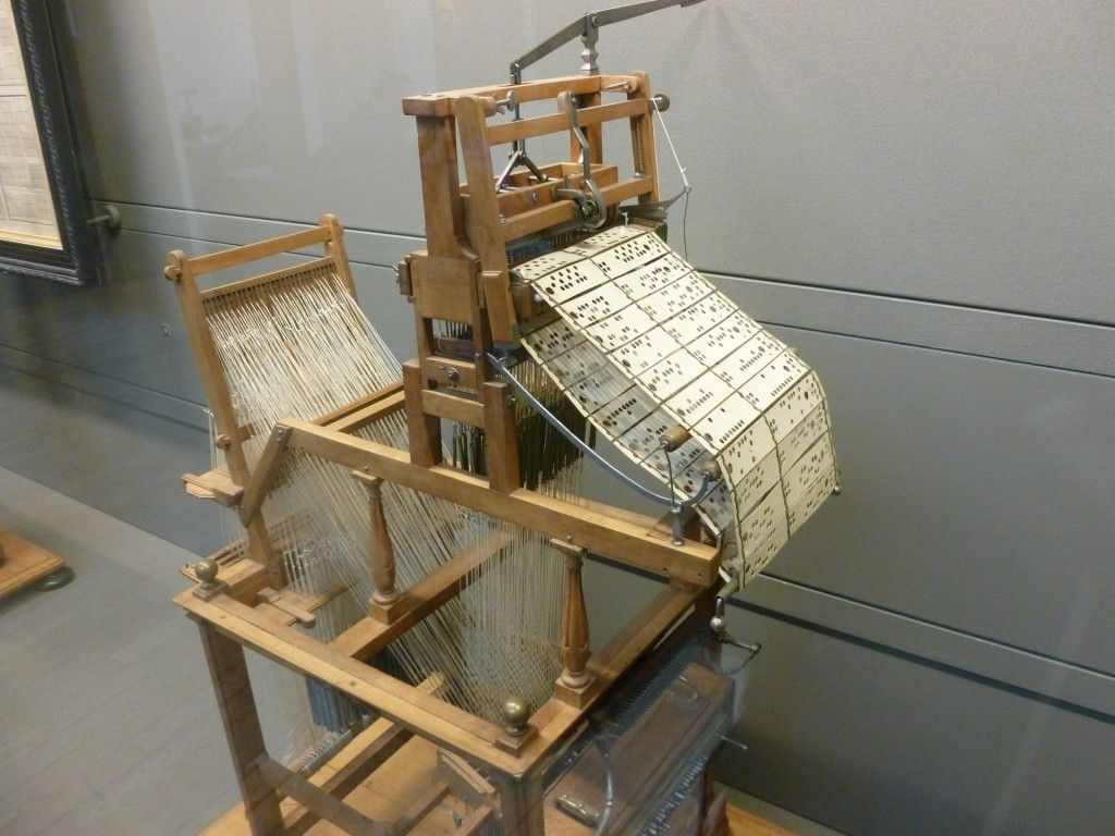 The Jacquard Loom, a programmable loom that inspired the use