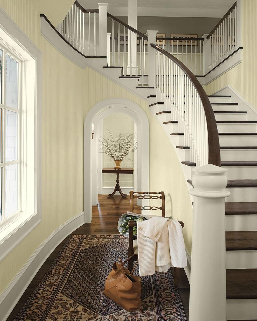 31 Stair Decor Ideas To Make Your Hallway Look Amazing: Decoration, Nice Paint Color For The Hallways Design Idea