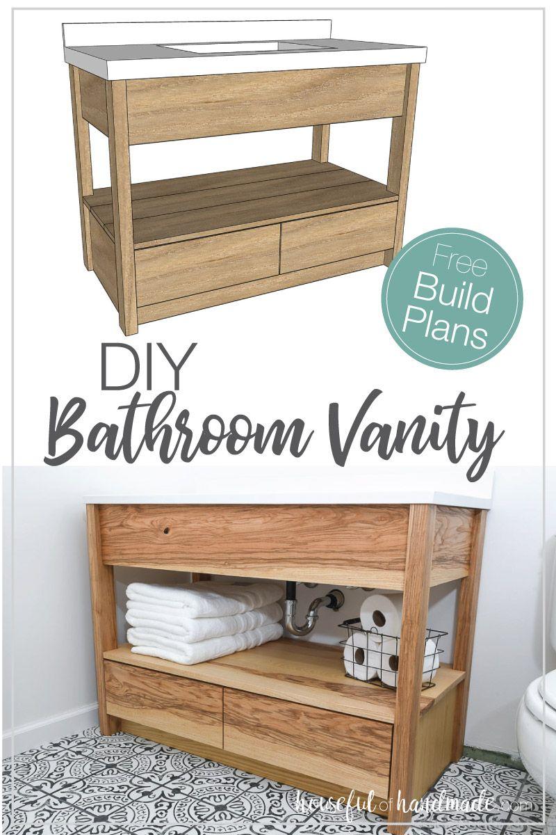 Diy Bathroom Vanity With Bottom Drawers Diy Bathroom Vanity Modern Bathroom Vanity Diy Vanity [ 1200 x 800 Pixel ]