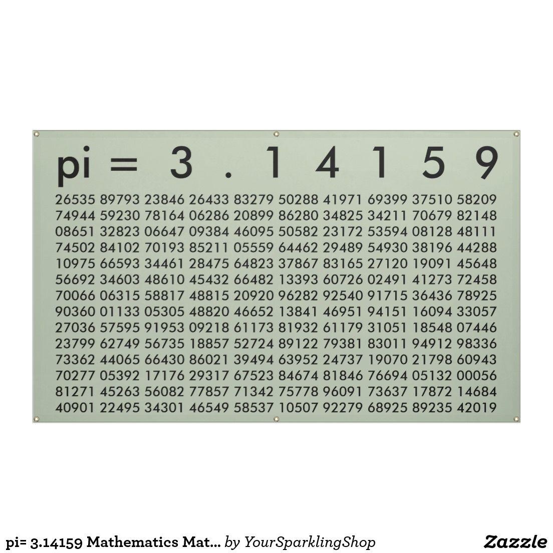 Pi 3 Mathematics Math Science Pi Day Digits Banner
