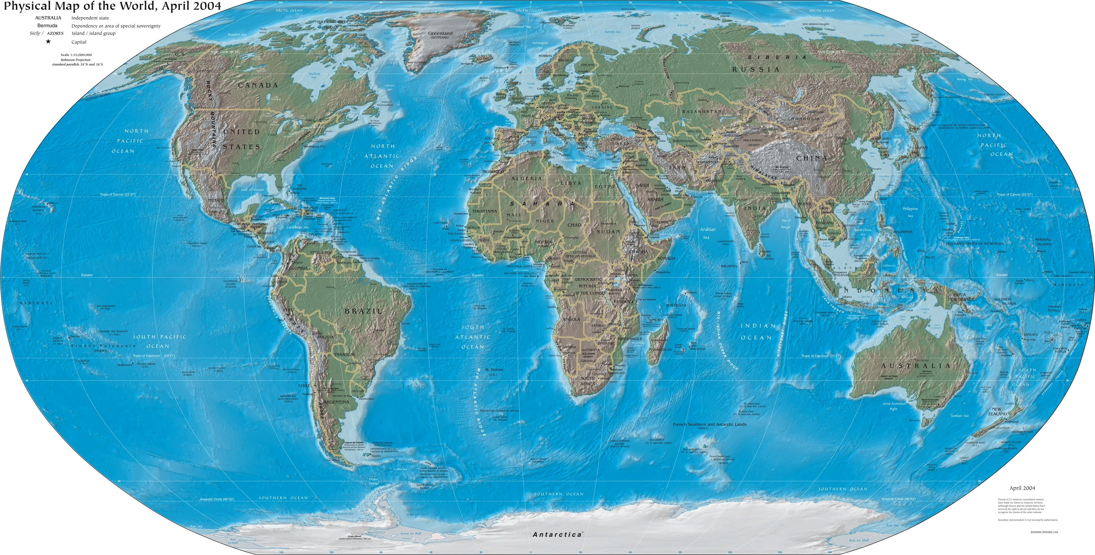 Printable world map political and geophysical cool for school printable world map political and geophysical gumiabroncs Images