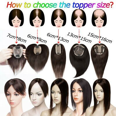 Details about 100% Russian Virgin Human Hair Toppe