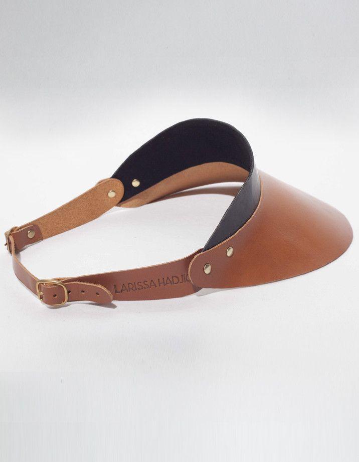 Larissa HAdjio - Leather Sun Visor - £188  leather  visor  0f81385fb07