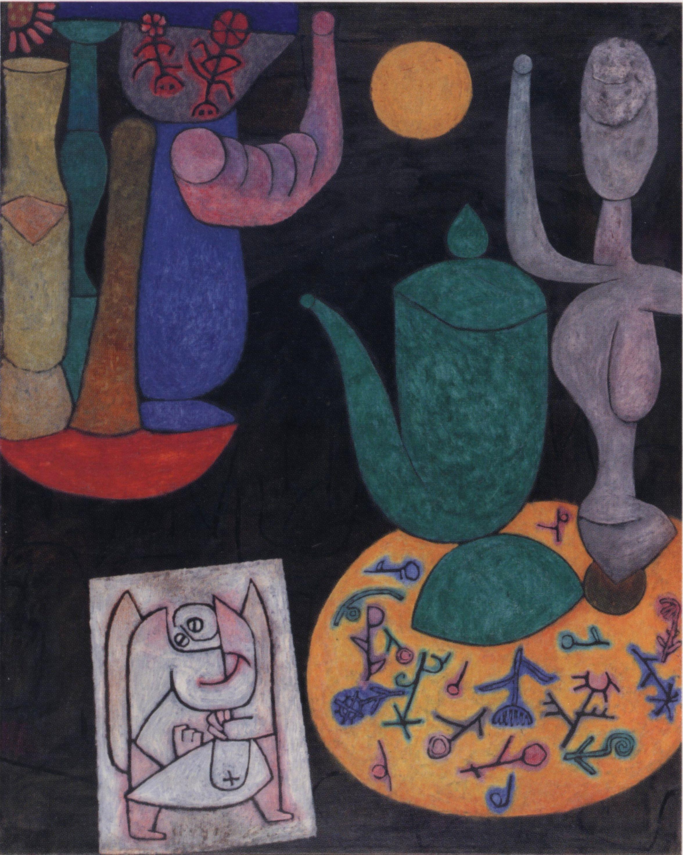 Zonder titel (Laatste stilleven) ~ 1940 ~ Olieverf op doek, op een spanraam  ~ 100 x 80,5 cm. ~ Particuliere verzameling, Zwitserlan… | Paul klee, Paul  klee art, Art