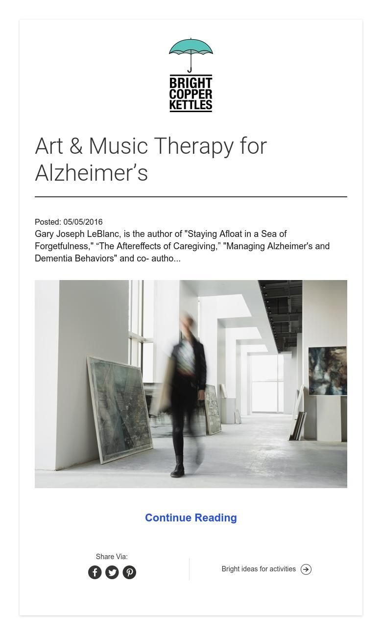 Art & Music Therapy for Alzheimer's