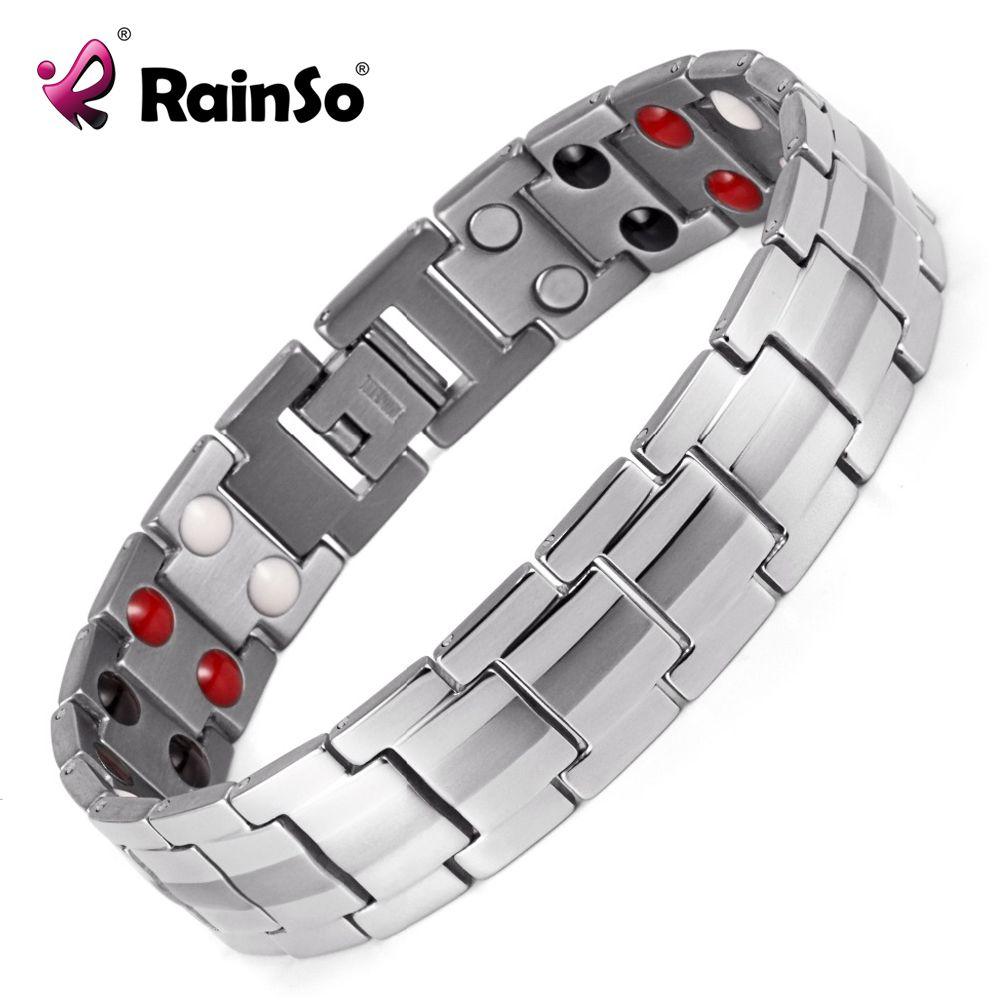 Rainso fashion jewelry healing fir magnetic titanium bio energy