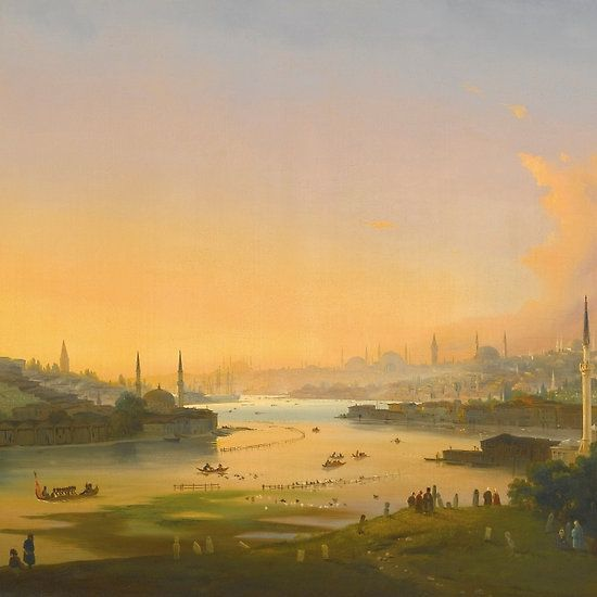 IPPOLITO CAFFI  ITALIAN - SUNRISE OVER THE GOLDEN HORN