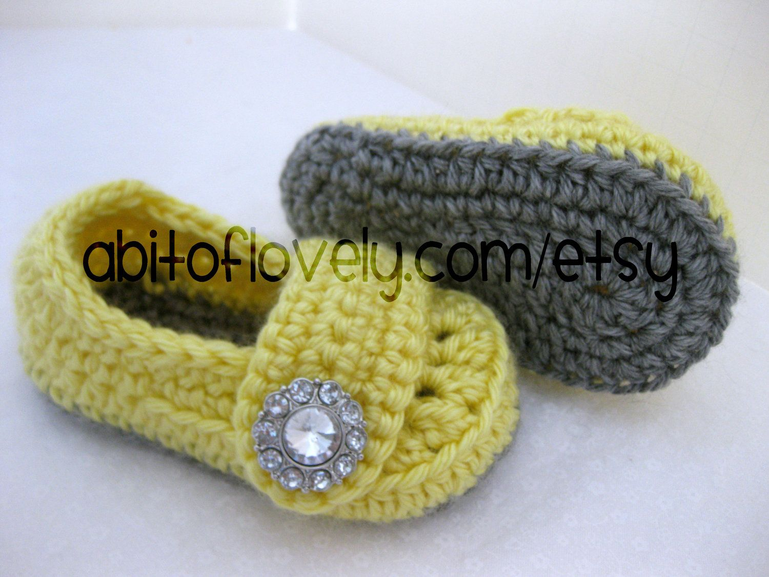 Baby Infant Girl Shoes / Slippers / Booties  Grey by abitofLovely, $24.00