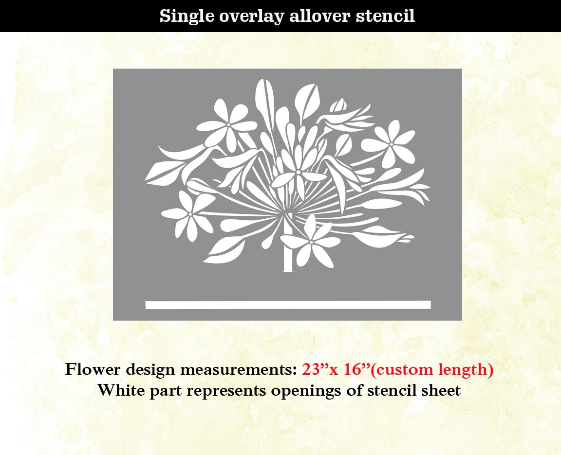 Flower modern designer allover pattern wall stencil home decor flower modern designer allover pattern wall stencil home decor thumbnail 1 amipublicfo Image collections
