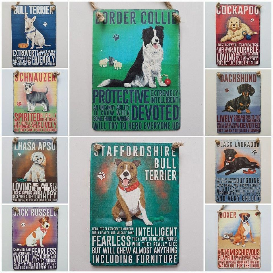 Details About Multi Listing Mini Dog Sign Border Collie Cockapoo Jack Russell Dachshund Boxer With Images Dog Signs Mini Dogs Dachshund