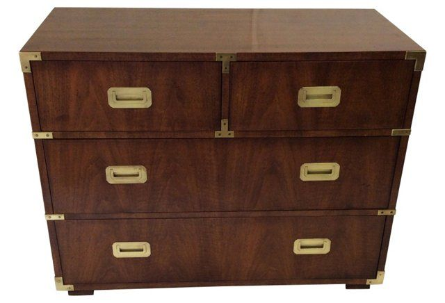Henredon Campaign-Style Chest   Classical Campaign Furnishings ...