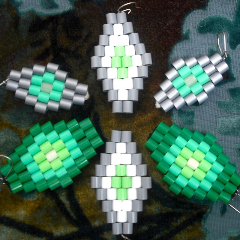 Hama Bead Earrings by Nancy Williams