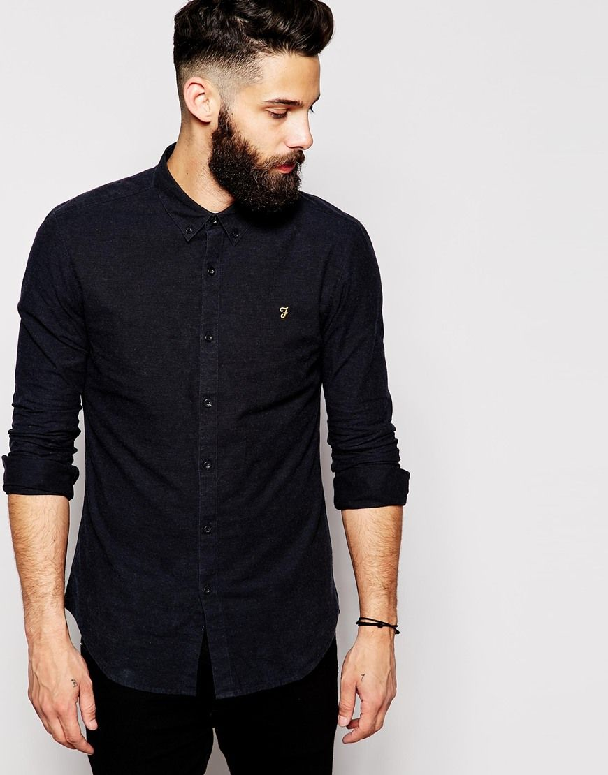 Farah Oxford Shirt with Black Weft Slim Fit | SS15 | Pinterest ...