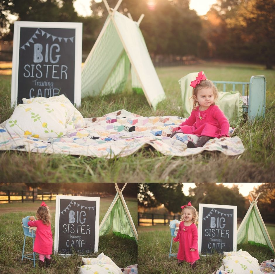 Baby number two announcement Big sister training camp – Big Sister Birth Announcement