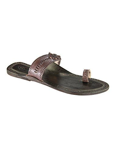 ed5d653517da7a eKolhapuri Womens Leather Handmade Kolhapuri Sandals 10 US Brown     To  view further for this item