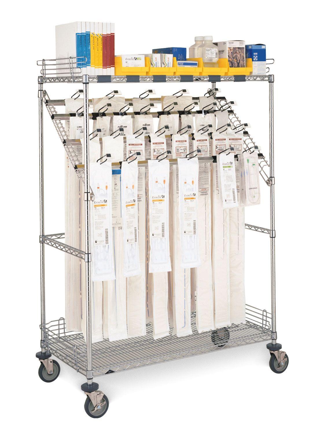Standard Catheter Cart. #MetroShelving #metroshelving.net #CatheterCart #MetroUtilityCart