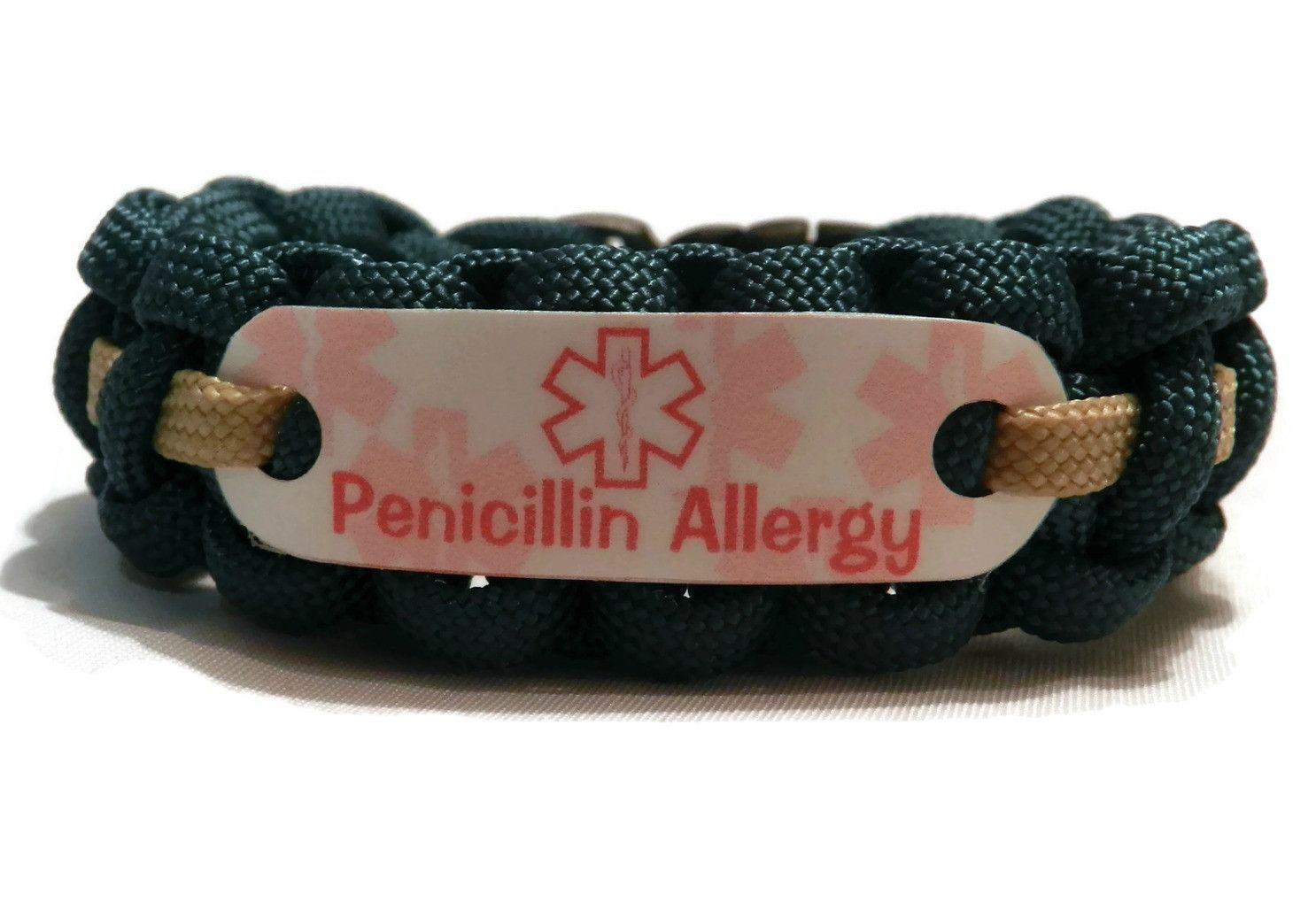 Penicillin Allergy Bracelet For Kids 550 Paracord Medical Alert