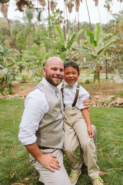 Groom and ring bearer ranch wedding couple photos wedding