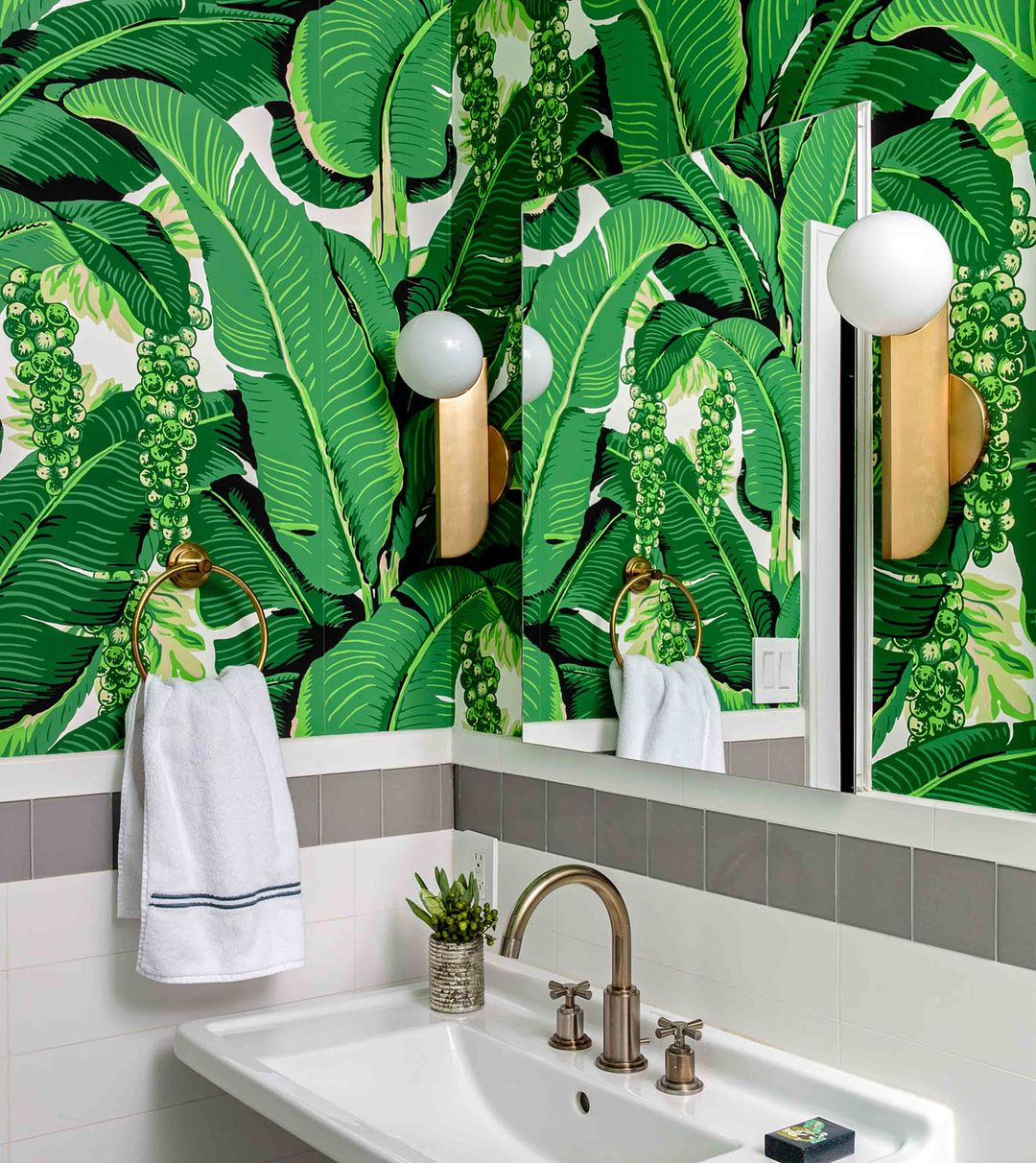 The Jewel Tones And Palm Frond Wallpaper Swipe Left For