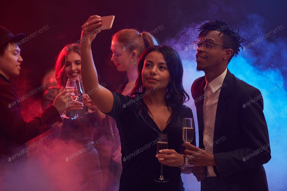 African-American Couple Taking Selfie in Nightclub By seventyfourimages鈥檚 photos #Ad , #affiliate, #American, #African, #Couple, #Nightclub