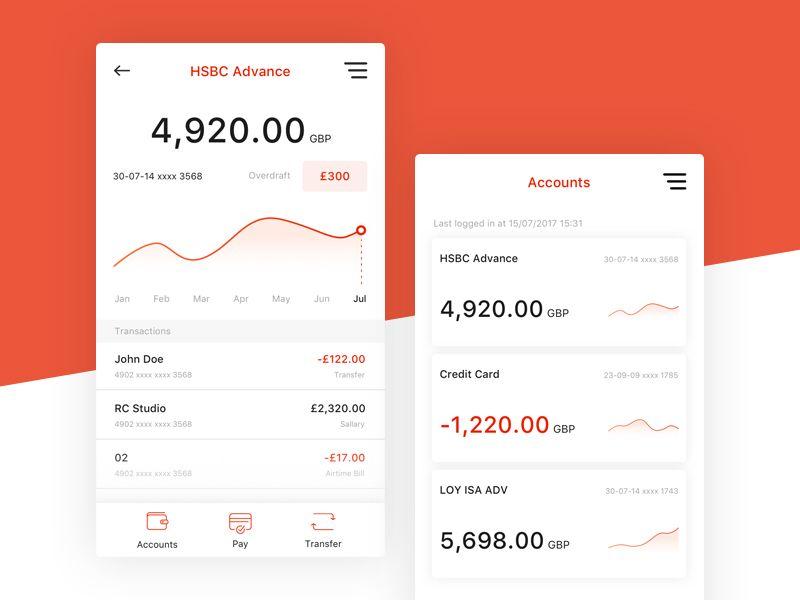 HSBC Online Banking App   Dribbble / ui