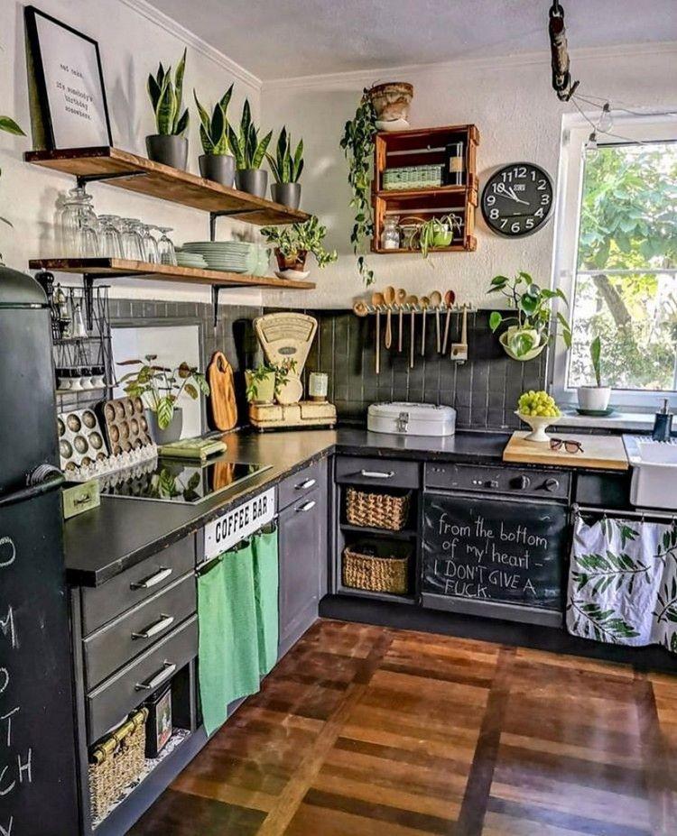 boho chic interior kitchen designs and decor ideas home kitchens boho style kitchen chic kitchen on kitchen interior boho id=74940