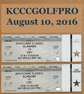 USC vs. Alabama 2 Tickets 9/3/2016 AT&T Stadium Club Seats Alabama sideline https://t.co/zY6oAm5MAH https://t.co/mI3nKbBG92