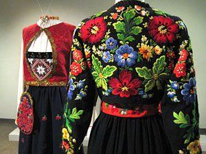 Folk costumes, Norway (left) & Sweden