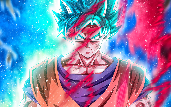 Download Wallpapers Goku 4k Art Dbz Fire Dragon Ball