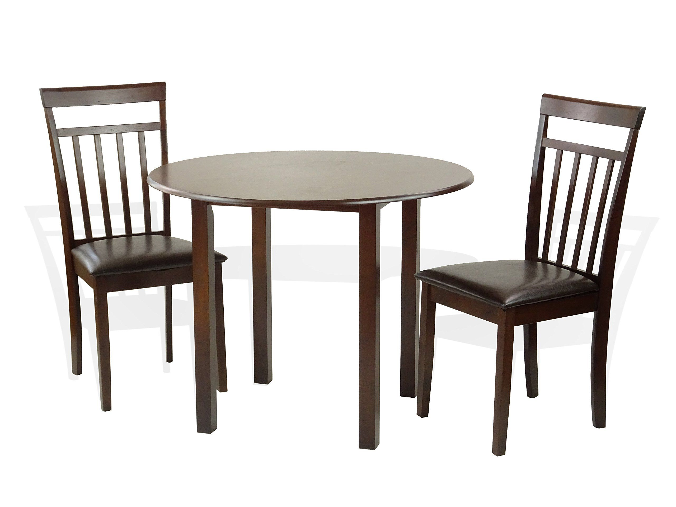 sunbear furniture dining kitchen set of 3 round table and