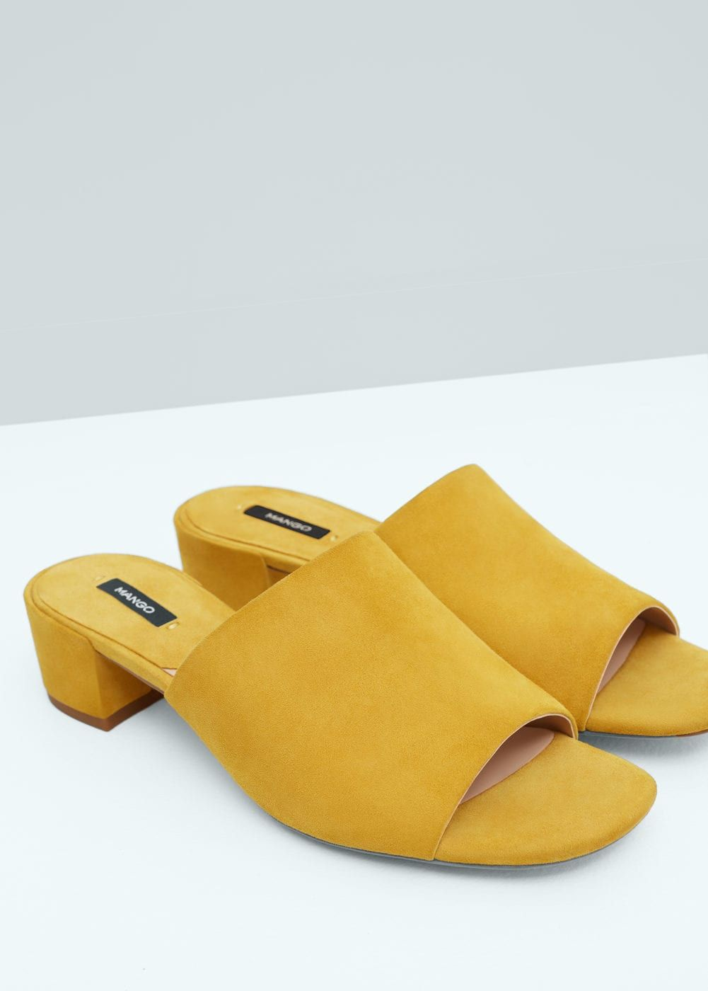 Destructured leather sandals | MANGO