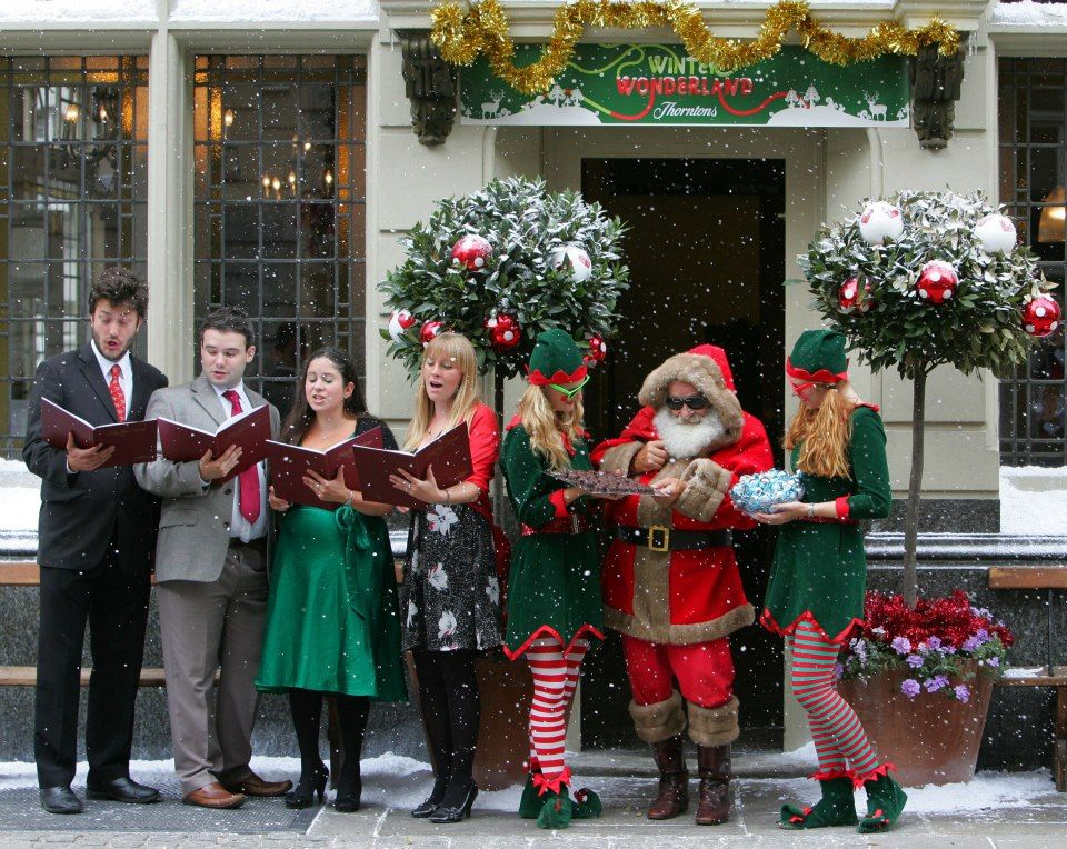 Christmas Carol Singers Decorations.Hire Book Christmas Carol Singers Hv Singers Carollers