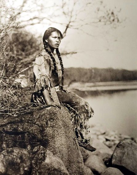 Buckskin - I so love this picture. http://www.firstpeople.us/native-american/photographs/a-native-american-girl-wearing-a-beaded-buckskin-dress.html