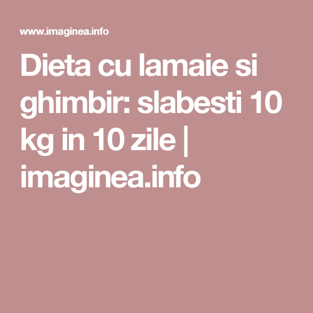 dieta ghimbir
