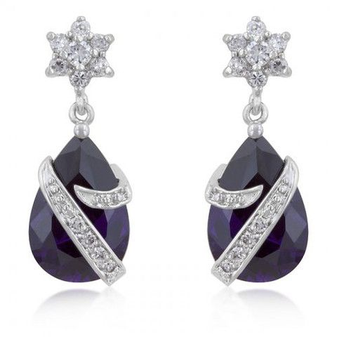 Royal Wrapped Amethyst Earrings – The Spinster's Shoppe