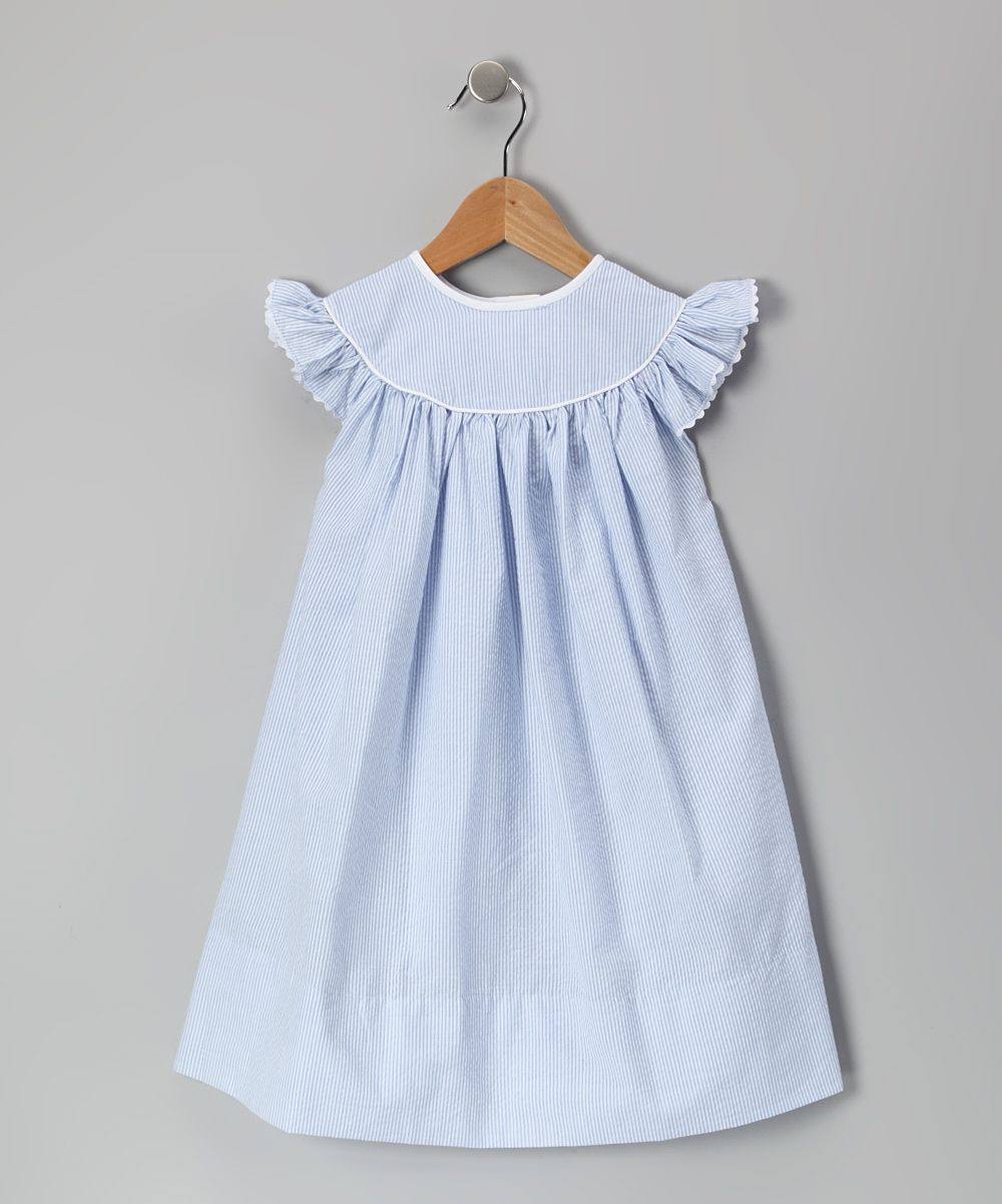$32.99 Blue Seersucker Dress - Infant, Toddler & Girls | Girl ...