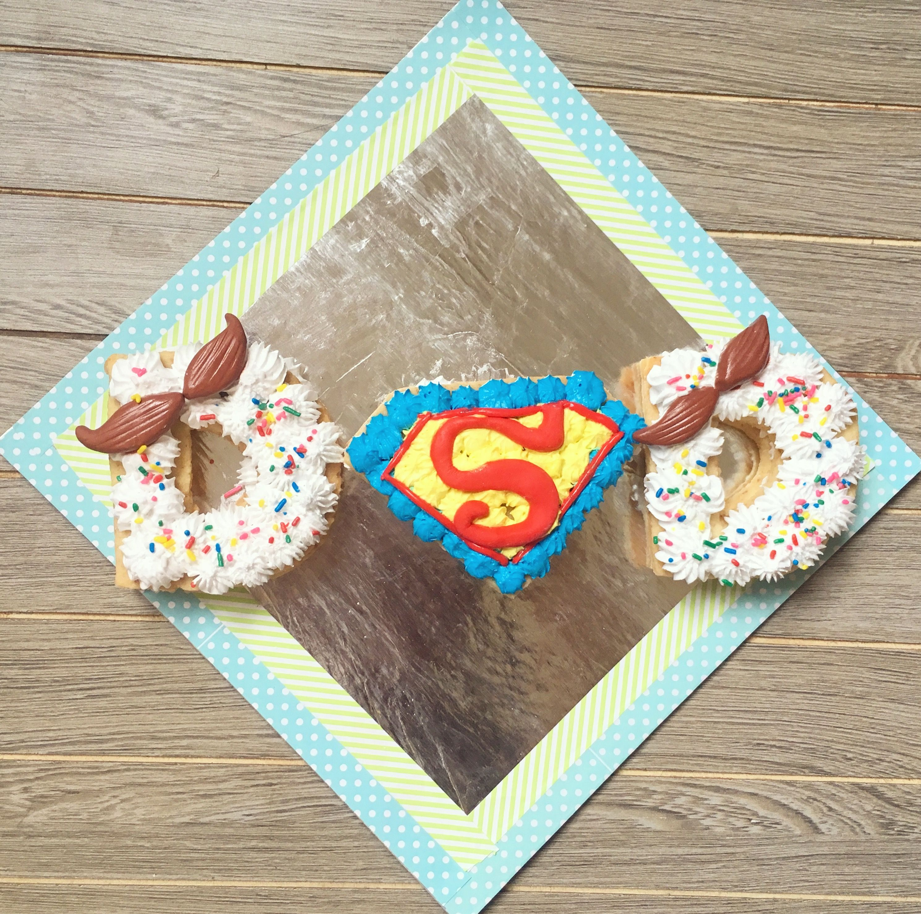 Fathers day super dad cookie cake fathers day cake