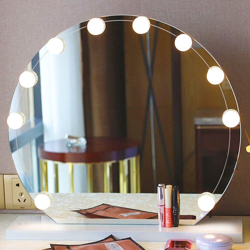 21 5us 10 12pcs Led Lampen Vanity Make Up Spiegel Koud Licht Led Spiegel Lamp Kit Hollywood Stijl Lens Koplamp Make Up Accessoires Make Upspiegels Aliex Make Up Spiegel Spiegel Wastafel Spiegel