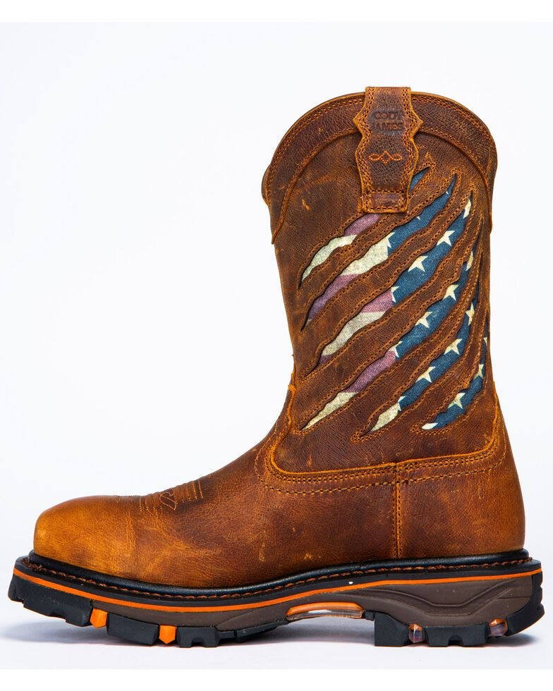 Cody James Men's Flag Western Work Boots Nano Composite
