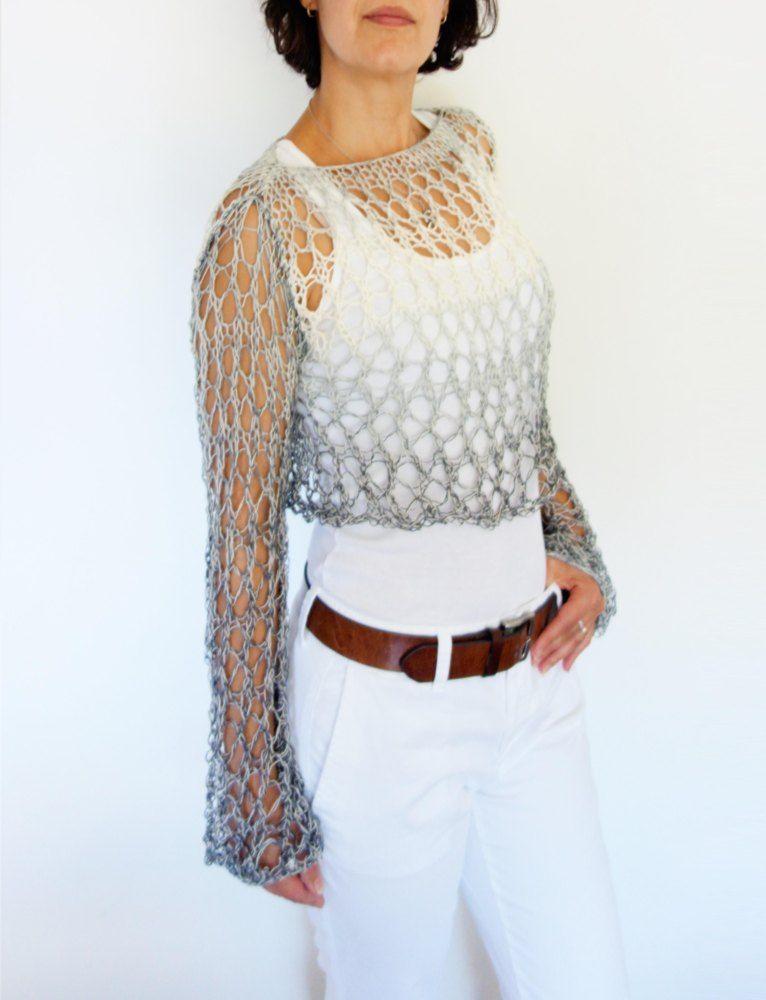 Shades Of Grey Crop Top Knitting Favorites Pinterest