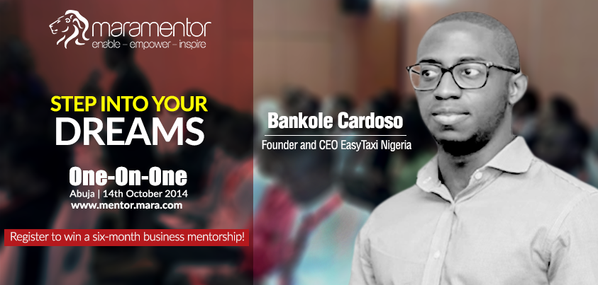 Want to bring about a change in Nigeria with your idea? Don't miss this opportunity to get mentored by Bankole Cardoso through One-on-One at Abuja. Apply now at http://bit.ly/Mara1on1