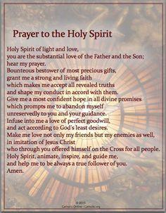 Prayers - Prayer to the Holy Spirit (PDF) | FREE Ship $49