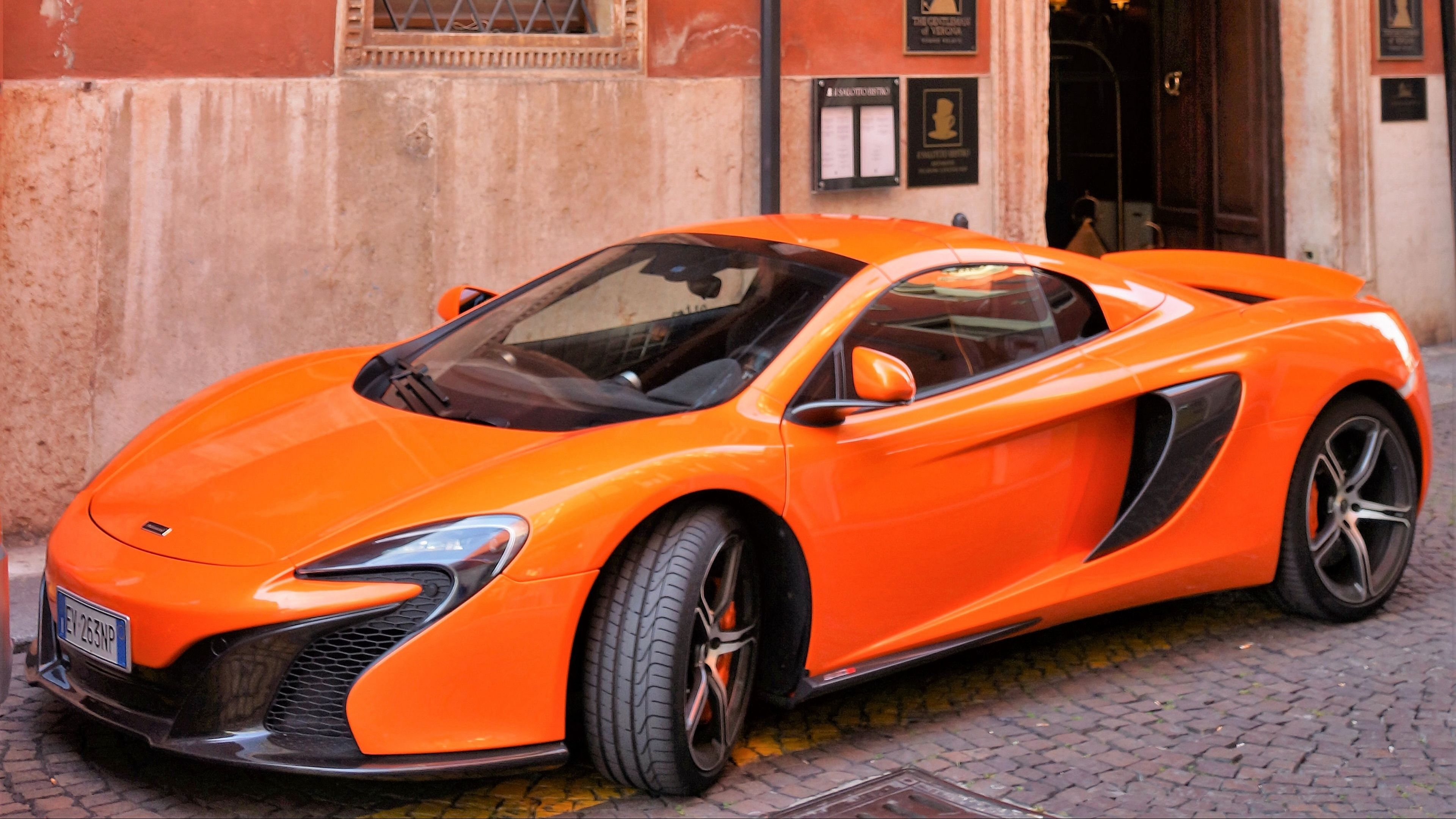 Wallpaper 4k Mclaren Supercar Orange Side View 4k Mclaren Orange Supercar